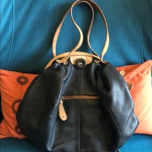 Two-Color Lucky Penny Leather Purse